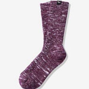 NWOT PINK Victoria's Secret Cozy Crew Socks OS